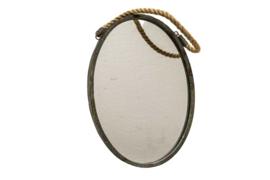spiegel Antique ovaal 31x43cm metaal/glas