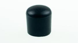 Meubeldop ronde poot ø12mm kunststof zwart 4stuks