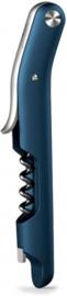 kurkentrekker 14,3 cm polypropyleen/RVS blauw