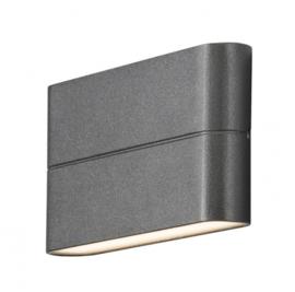 wandlamp Chieri 12W 230V aluminium 17 cm antraciet