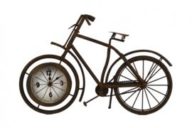 klok fiets 38,5 x 7,5 x 25 cm staal brons
