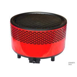 Tafelbarbecue rookvrij voor briketten of houtskool met ventilator (werkt op 4 x AA batt) 34cm