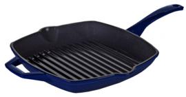 grillpan 26 cm gietijzer blauw
