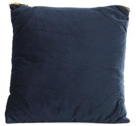 decoratiekussen Valerie 45 x 45 cm textiel blauw