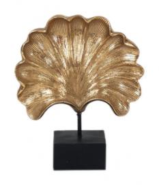 decoratiebeeld Blad 25 x 20 x 7 cm polyresin goud