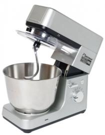 keukenmachine 4-in-1 1200W 38,5 cm RVS zilver