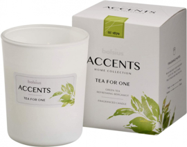 geurkaars Accents Tea For One 9,2 cm glas/wax wit
