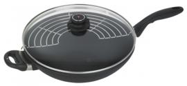 wokpan inductie XD 32 cm aluminium zwart
