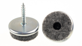 Viltglijder met schroef ø25 mm chroom 16 stuks
