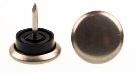 Glijnagel ø30mm staal rubber zilvergrijs 4stuks