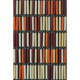 vliegengordijn Mix hulzen 210 x 90 cm PVC oranje/rood