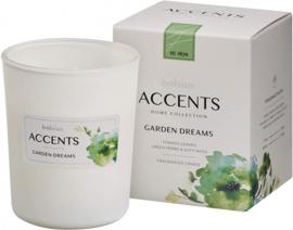 geurkaars Accents Garden Dreams 9,2 cm glas/wax wit