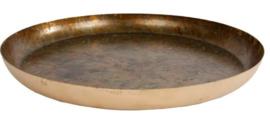 dienblad 28 cm messing/staal goud