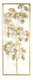 wandversiering Grazia 2,5 x 39 x 99 cm staal goud
