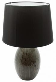 tafellamp 16,5 x 31,5 cm keramiek bruin/zwart