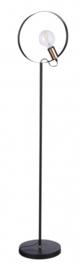 vloerlamp Camelia E27 140 cm aluminium zwart