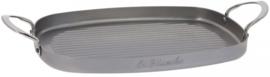 grillplaat Mineral B 38 x 26 cm staal zilver