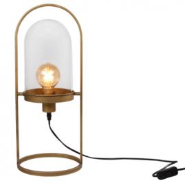tafellamp 'Stolp' 24x21x51 cm metaal goud