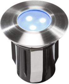 tuinspot Alpha 4,2 cm RVS SMD-led 0,5W 12V blauw