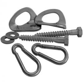ophangsysteem hangmat staal zilver 8-delig