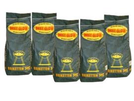 BestGlow houtskoolbriketten 3kg. zak a 5 zakken
