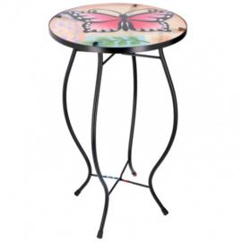 mozaiektafel vlinder multicolor 30x30x54 cm