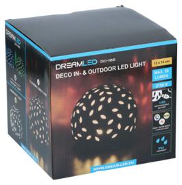 decoratielamp 12 x 14 cm keramiek led wit 3-delig