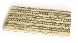 brood-/snijplank Music 23,5 x 14,5 cm bamboe beige