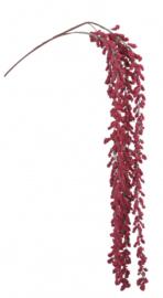 kunstbessentak hangend 110 cm rood/bruin