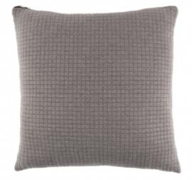 kussen Elle 45 x 45 cm polyester/nylon grijs