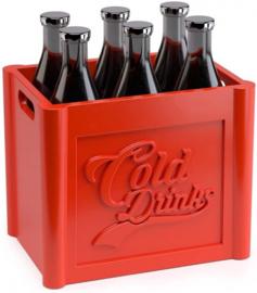 prikkers Cold Drinks 7,8 cm polypropyleen rood 6 stuks