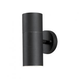 wandlamp Modena 70W 230V aluminium 20 cm zwart