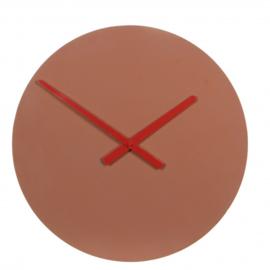 klok Tanger 4 x 45 cm beton bruin/rood
