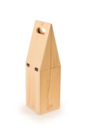 wijnboxkoeler Waycooler 42,3 x 12,3 cm hout blank