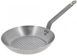 grillpan Mineral B Element 26 cm staal zilver