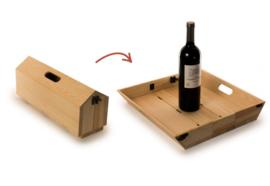 Tray Chique wijnbox en dienblad hout