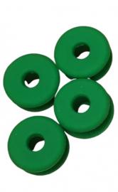 antislipdoppen 2 cm siliconen groen 4 stuks