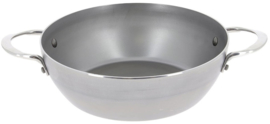 hapjespan Country Mineral B 24 cm staal zilver