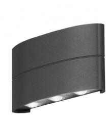 wandlamp led Chieri 7,2W 230V aluminium 19 cm antraciet