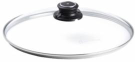 deksel 28 cm glas transparant