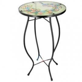 mozaiektafel pauw multicolor 30x30x54 cm