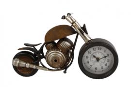 klok motor 35 x 13 x 17,5 cm staal brons