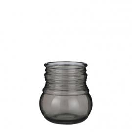 vaas Granada 20 x 18 cm glas bruin