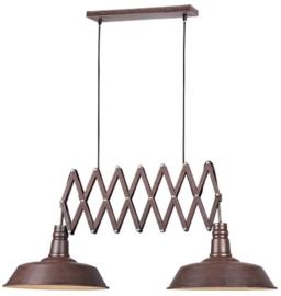 hanglamp Detroit 187 x 150 cm staal 4 kg roestbruin
