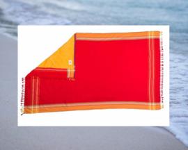 XL Katoenen Strandlaken Rood