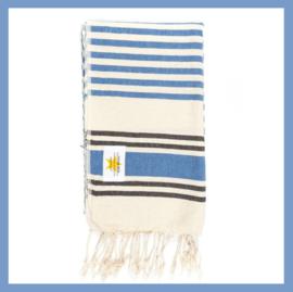 Hamamdoek streep donkerblauw