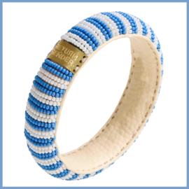 Return to Sender Handgemaakte armband Lichtblauwe streep