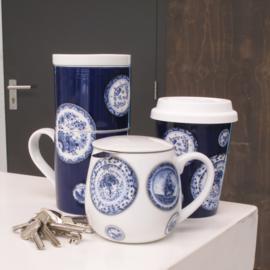 Koffiebeker-to-go  Blauw   Hollandsche Waaren