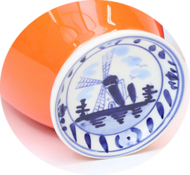 Delftsblauw mokje Oranje   Hollandsche Waaren