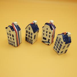 Kersthangers Delftsblauw 'Grachtenpandje'